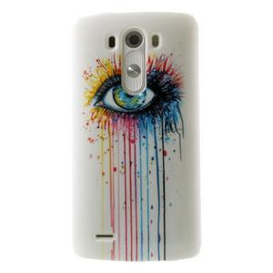 Gelový kryt na mobil LG G3 - barevné oko - 1
