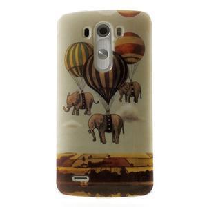 Gélový kryt pre mobil LG G3 - sloni - 1