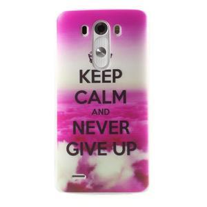 Silks gelový obal na mobil LG G3 - Keep Calm - 1