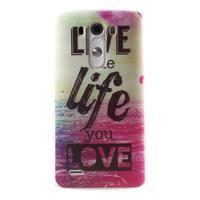 Silks gelový obal na mobil LG G3 - love - 1/7
