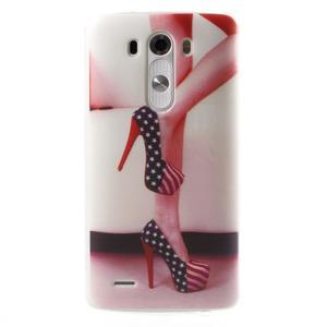 Silks gélový obal pre mobil LG G3 - sexy topánka - 1