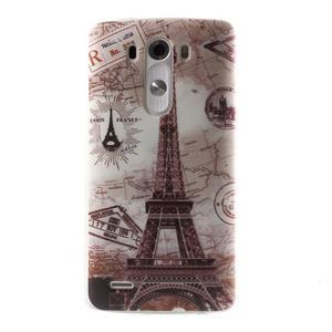 Silks gelový obal na mobil LG G3 - Eliffelova věž - 1