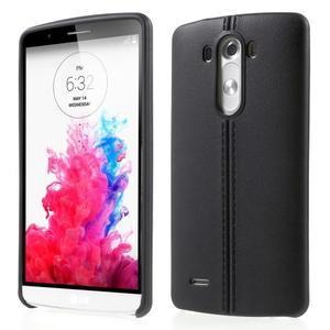 Lines gelový kryt na mobil LG G3 - černý - 1