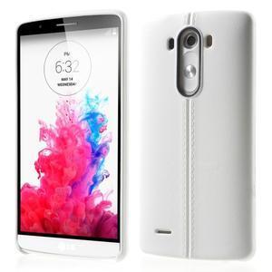 Lines gélový kryt pre mobil LG G3 - biely - 1