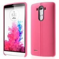 Lines gelový kryt na mobil LG G3 - rose - 1/6