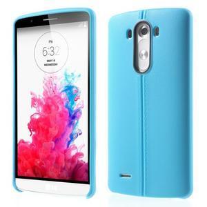 Lines gélový kryt pre mobil LG G3 - modrý - 1