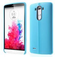 Lines gélový kryt pre mobil LG G3 - modrý - 1/6