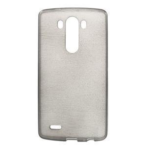 Brush gélový obal pre LG G3 - sivý - 1