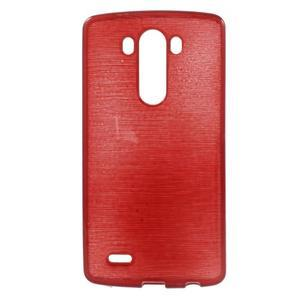 Brush gélový obal pre LG G3 - červený - 1