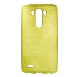 Brush gélový obal pre LG G3 - zelený - 1