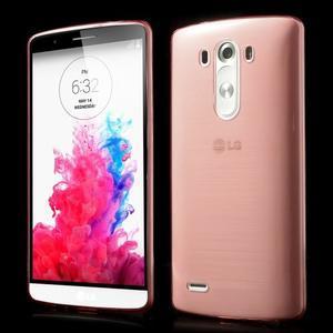 Ultratenký slim obal na mobil LG G3 - červený - 1