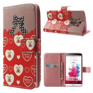 Obrázkové puzdro pre mobil LG G3 - zamilovaný medvedík - 1