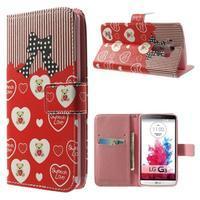 Obrázkové puzdro pre mobil LG G3 - zamilovaný medvedík - 1/7