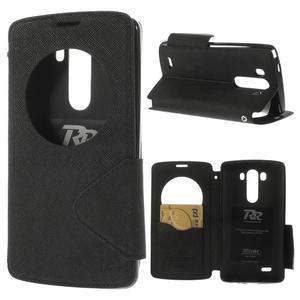 Diary puzdro s okienkom na mobil LG G3 - čierne - 1