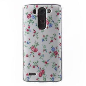 Gélový obal pre LG G3 s - kytičky - 1