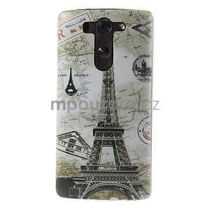Ultra slim 0.6 mm gélový obal LG G3 s - Eiffelova veža - 1