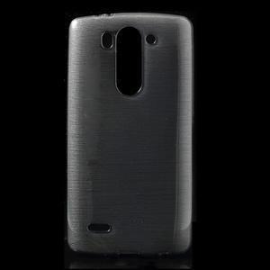 Broušený gélový obal na LG G3 s - šedý - 1