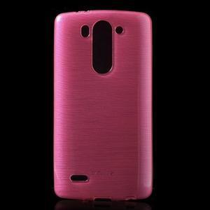 Broušený gélový obal na LG G3 s - rose - 1