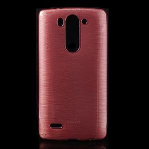 Broušený gélový obal na LG G3 s - růžový - 1