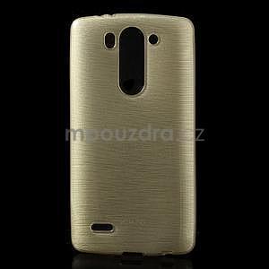 Broušený gélový obal na LG G3 s - zlatý - 1