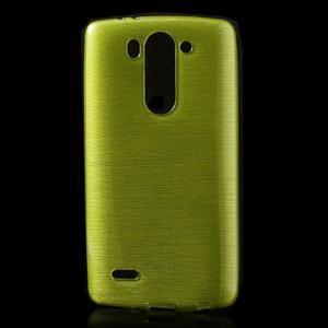 Broušený gélový obal na LG G3 s - zelený - 1