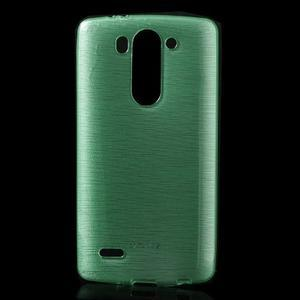Broušený gélový obal na LG G3 s - azurový - 1