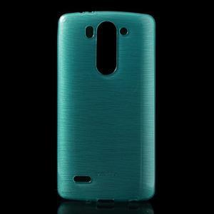 Broušený gélový obal na LG G3 s - tyrkysový - 1