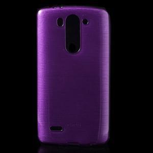 Brúsený gélový obal pre LG G3 s - fialový - 1