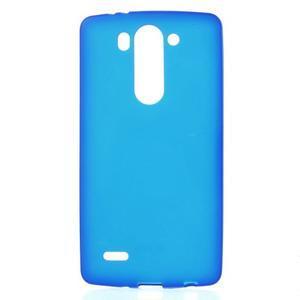 Modrý matný gélový kryt LG G3 s - 1