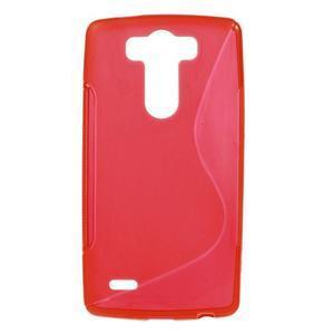 S-line červený gélový obal pre LG G3 s - 1