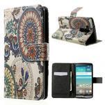 Zapínací peňaženkové puzdro pre LG G3 s - květina mandala - 1/7