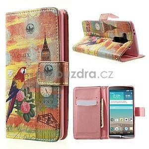 Zapínací peňaženkové puzdro pre LG G3 s - Big Ben - 1