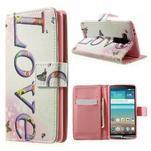 Zapínací peňaženkové puzdro pre LG G3 s - love - 1/7
