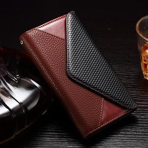 Enlop peněženkové pouzdro na LG G4 - hnědé/černé - 1