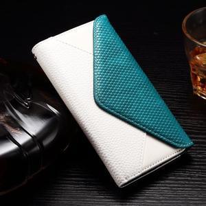 Enlop peněženkové pouzdro na LG G4 - modré/bílé - 1