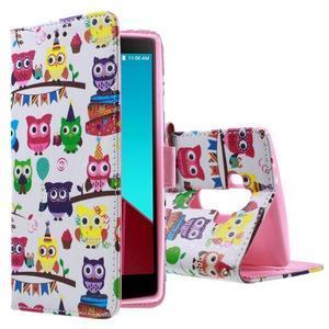 Call peňaženkové puzdro pre LG G4 - malej sovy - 1