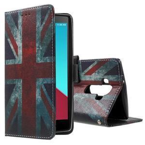 Call peňaženkové puzdro pre LG G4 - UK vlajka - 1
