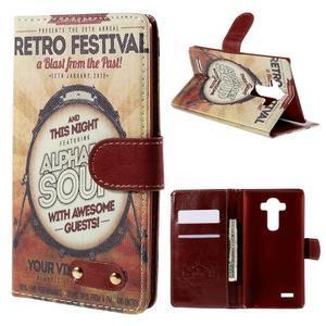 Koženkové pouzdro na mobil LG G4 - retro festival - 1