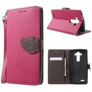 Leaf peňaženkové puzdro pre mobil LG G4 - rose - 1