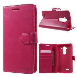 Luxury PU kožené puzdro pre mobil LG G4 - rose - 1