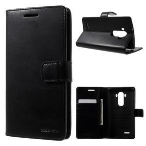 Luxury PU kožené pouzdro na mobil LG G4 - černé - 1