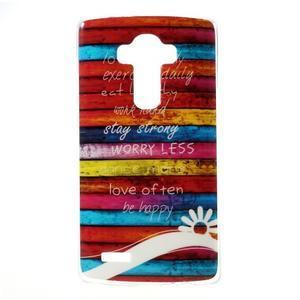 Jells gélový obal pre mobil LG G4 - farby dreva - 1