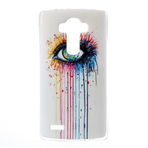 Jells gélový obal pre mobil LG G4 - farebné oko - 1