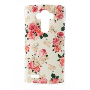 Jells gelový obal na mobil LG G4 - květiny - 1