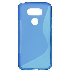 S-line gélový obal pre mobil LG G5 - modrý - 1