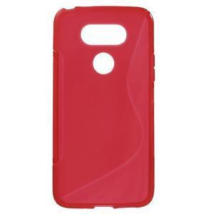 S-line gélový obal pre mobil LG G5 - červený - 1