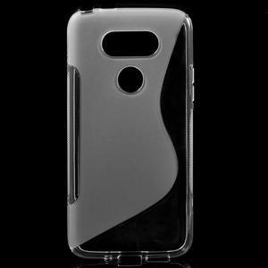 S-line gélový obal pre mobil LG G5 - transparentný - 1