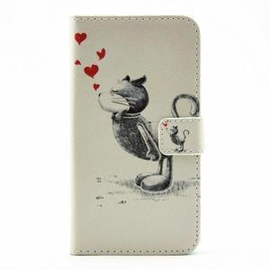 Puzdro na mobil LG G5 - zamilovaný kocour - 1