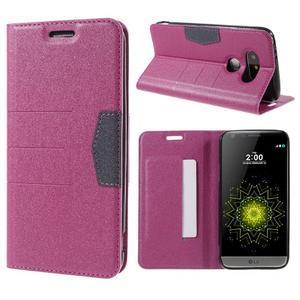Klopové peneženko puzdro pre LG G5 - rose - 1