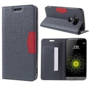 Klopové peňaženkové puzdro pre LG G5 - sivé - 1